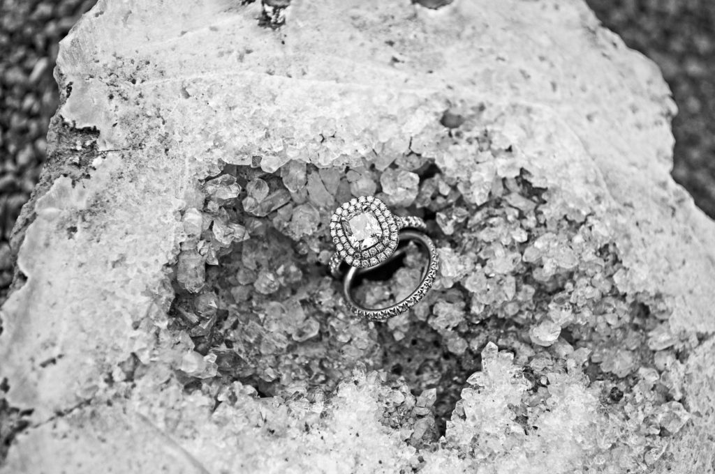 Engagement ring wedding band style shoot