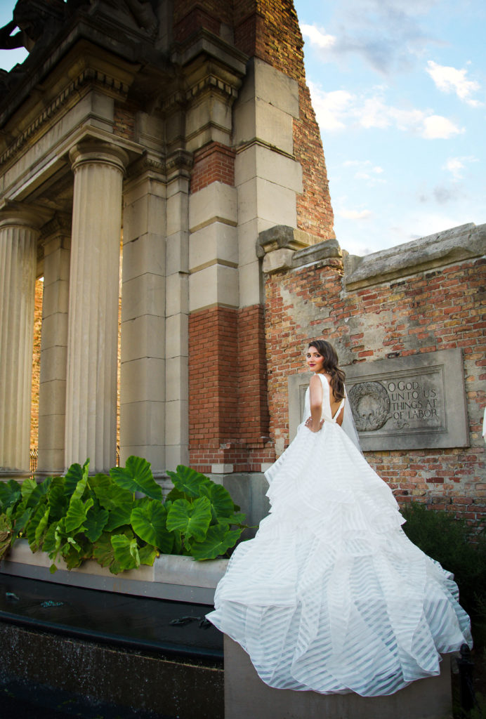 Modern bridal gown wedding dress Indianapolis