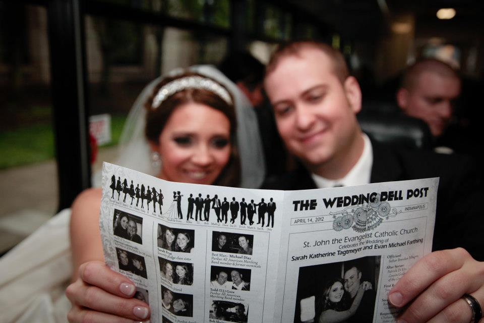 Wedding newspaper program