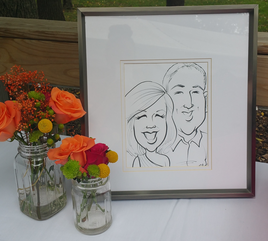 Caricature art wedding ideas