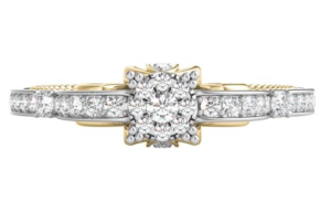 Cinderella inspired Helzberg Diamonds engagement ring