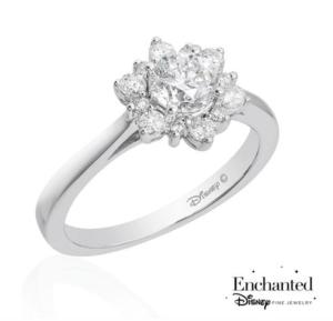 Princess Elsa inspired Reeds Jewelers engagement ring