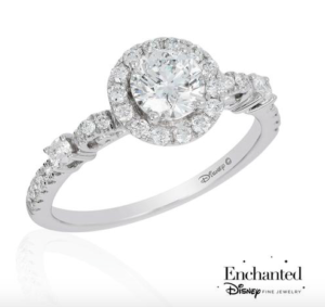 Cinderella inspired Reeds Jewelers engagement ring