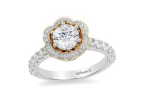 Princess Belle inspired Zales engagement ring