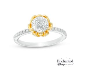 Princess Tiana inspired Zales engagement ring