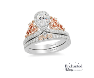 Disney princess tiara inspired Zales engagement ring
