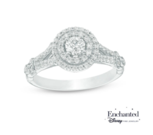 Princess Tiana inspired Zales engagement ring