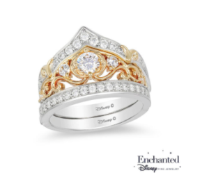Cinderella's crown inspired Zales engagement ring