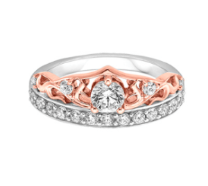 Disney princess tiara inspired Fred Meyers Jewelers engagement ring