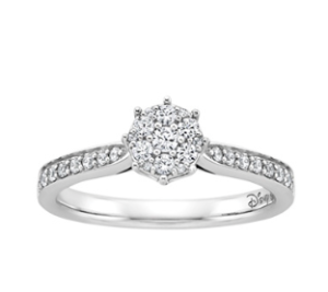 Princess Ariel inspired Fred Meyers Jewelers engagement ring