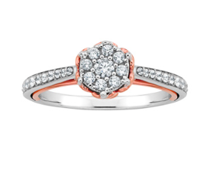 Princess Belle inspired Fred Meyers Jewelers engagement ring