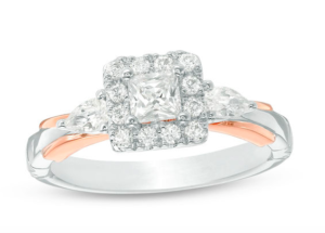 Snow White inspired Zales engagement ring