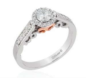 Princess Ariel Disney Enchanted Fine Jewelry engagement ring