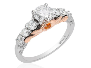 Princess Belle inspired Disney Enchanted Fine Jewelry collection engagement ring