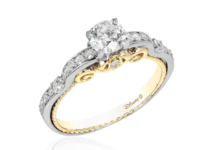 Cinderella inspired Disney Enchanted Fine Jewelry collection engagement ring