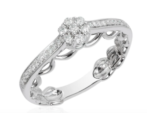 Cinderella inspired Disney Enchanted Fine Jewelry collection engagement or promise ring