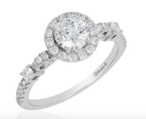Cinderella's carriage inspired Disney Enchanted Fine Jewelry collection engagement ring