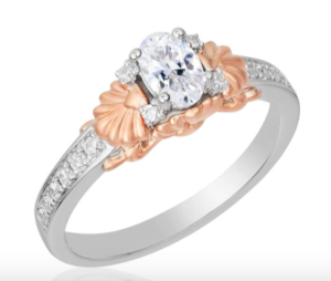 Princess Ariel inspired Disney Enchanted Fine Jewelry collection engagement ring
