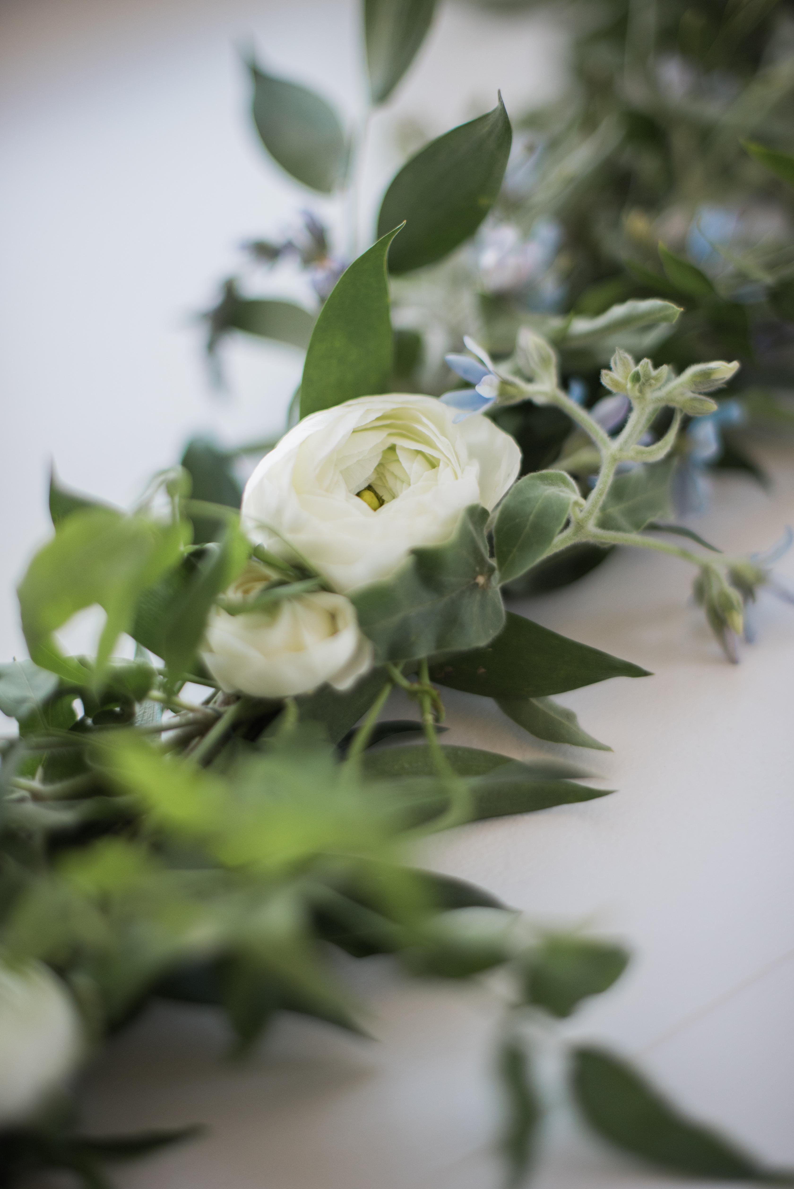 greenery wedding florals garland
