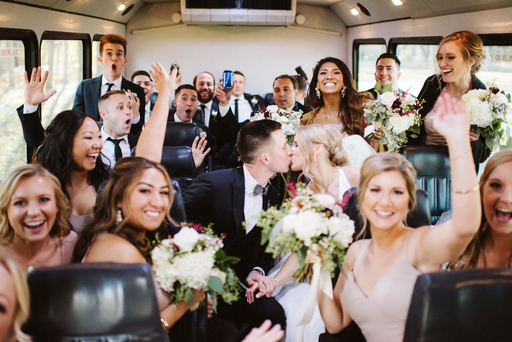 bridal party celebration party bus