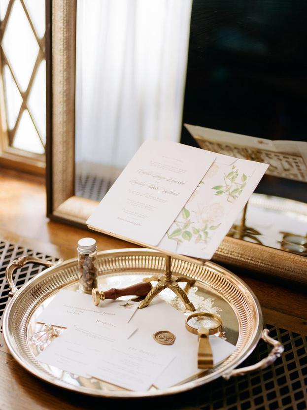 wedding invitation wax seal details